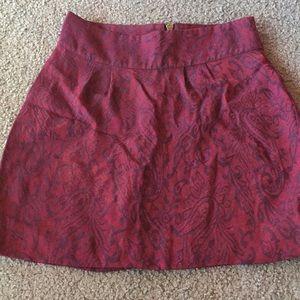 Silence + Noise metallic fuschia mini skirt